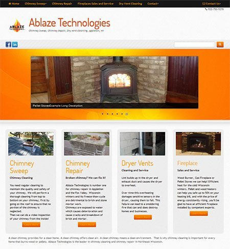 new website for Ablaze Technologies